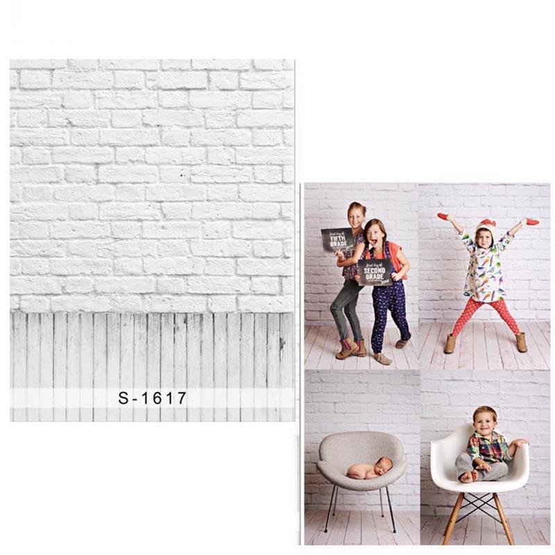 DAWNKNOW白レンガの壁ビニール写真撮影の背景新生児用新生地ポリエステル背景用子供フォトスタジオ1617