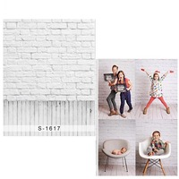 White Brick Wall Vinyl Photography Background For Newborn Wood Floor Oxford Backdrop For Children Photo Studio