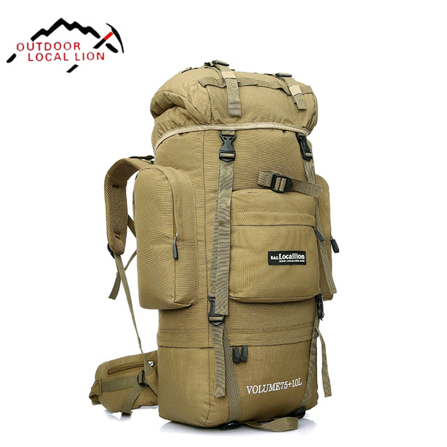 <font><b>OUTDOOR</b></font> LOCAL LION Tactical Backpack Men Climbing Hiking Backpacks <font><b>Bag</b></font> Women Army Military Waterproof Rucksack Molle 85L HT431