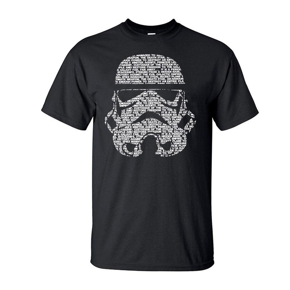Men T Shirt 2019 Summer Fashion Star Wars Yoda/Darth Vader Streetwear T-Shirt Men's Casual T Shirts Masks Words Hip Hop Tops Tee(China)
