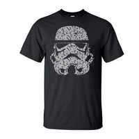 Men T Shirt 2019 Summer Fashion Star Wars Yoda/Darth Vader Streetwear T-Shirt Men's Casual T Shirts Masks Words Hip Hop Tops Tee