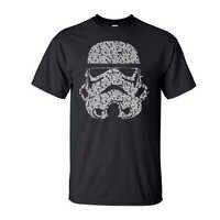 T Shirt uomo 2019 di Modo di Estate Star Wars Yoda/Darth Vader Streetwear T-Shirt da Uomo Casual T Camicette Maschere parole Hip Hop Magliette e camicette Tee
