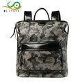 MLITDI New Camouflage Leather Backpack Men Mochila Masculina Escolar Laptop Bagpack School Backpacks Vintage Travel Bag Back Men