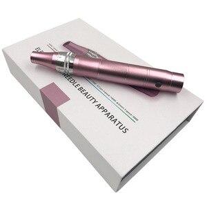 Image 3 - Elektrische Derma Stift Wireless Maschine gerät Tattoo Microblading derma Tattoo Nadeln dr Stift Pistole mesotherapie Gesicht Make Up Hautpflege