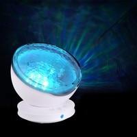 Projector Night Light Star Sky Ocean Wave Music Player Baby Kids Sleeping Light Romantic LED Starry Star Master USB Aurora Lamp