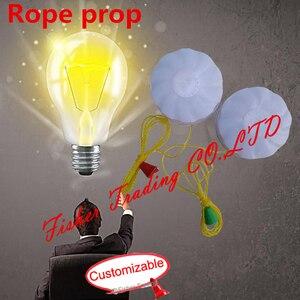 Puxar a corda para abrir o fechamento do EM, custmized room escape kit de jogo, equipamentos de aventura da vida real/corda pull prop/corda iluminação