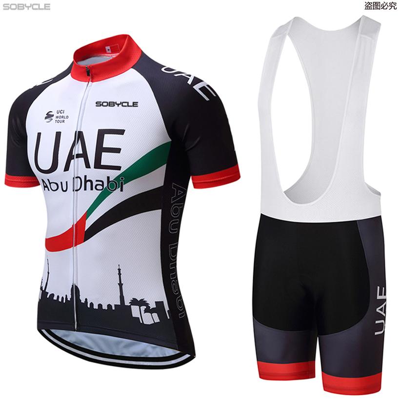 Prix pour 2017 ÉMIRATS ARABES UNIS Équipe Pro Cycling Jersey À Manches Courtes Vélo Vêtements de Sport Cyclisme Vêtements Unisexe Respirant À Séchage Rapide