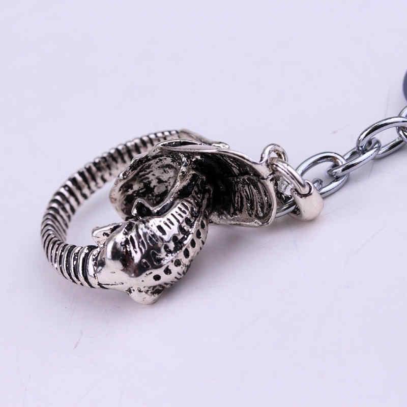 Dongsheng Filme Estrangeiro Predator AVP Alienígena Do Vintage Ornamentos acessórios para Mulheres homens Jóias de Metal Chaveiros Clássico Keyrings-50