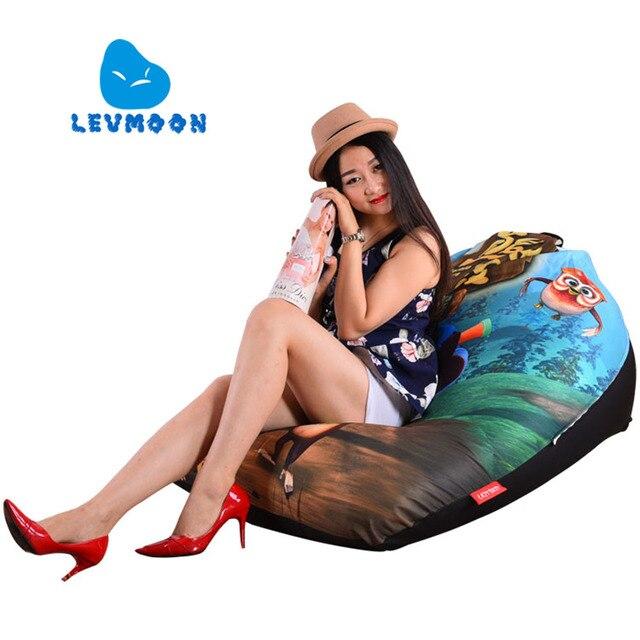 LEVMOON Beanbag Cadeira Do Sofá Grande Urso Assento zac Shell Conforto Tampa de Cama do Saco de feijão Sem Enchimento Beanbag Salão de Algodão No Interior cadeira