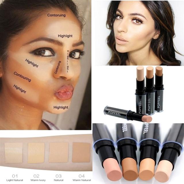 Makeup Base Eye Concealer Cream Stick Makeup Brighten Shadow Waterproof Cover Dark Circle Comestic Long-Lasting Natural 4 Color 1