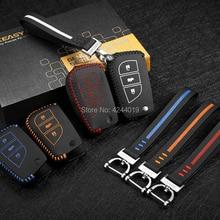 LUCKEASY Car Keychain Keyring Key Bag Key Fob Central Key Cover For Toyota Corolla Camry 2014-2017 soft tpu car key case cover keychain for toyota avalon 8 camry 2019 levin ioza chr
