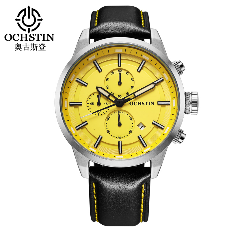 Luxury Brand Watch Men Military Watch OCHSTIN Chronograph Army Sport Watches Clock Male Business Quartz-Watch Relogio Masculino jedir brand luxury watch men army military leather watches male sport waterproof watches business chronograph quartz wristwatch