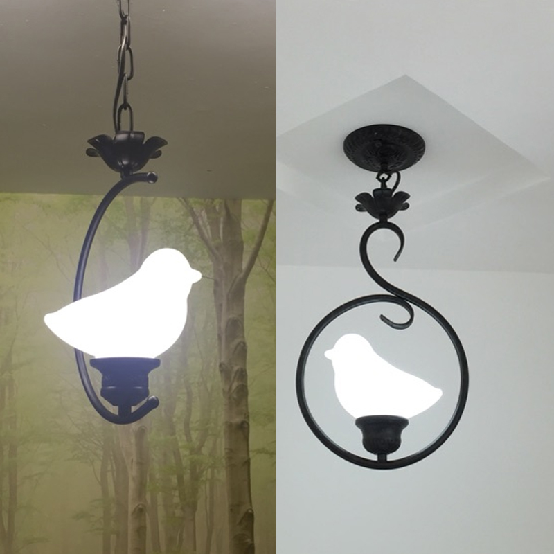 lamps The bird creative pastoral style porch corridor aisle lights European bedroom windows small restaurant balcony Pendant Lig american restaurant ceramic pendant lamps balcony aisle bar classical home bedroom corridor porch bird pendant light za9197