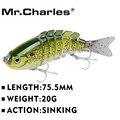 El señor charles CMC 056 de señuelo de pesca 75,5mm/20g Singking calidad profesional de 7 segmentos Swimbait Crankbait cebo duro pesca abordar