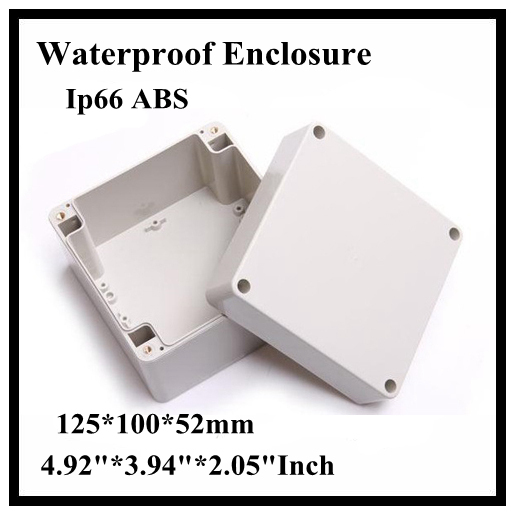 Abs Ip66 Waterproof Enclosure Electronic Plastic Box 125*100*52mm 4.923.942.05Inch Junction Distribution Switch Outdoor Box 175 175 100mm ip67 abs electronic enclosure box distribution control network cabinet switch junction outlet case 175x175x100mm