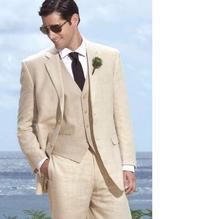 Two Buttons Man Suits Men's Tuxedo Wedding Suits for Men Groom Groomsmen Tuxedos Mens Wedding Suits (Jacket+Pants+Vest )