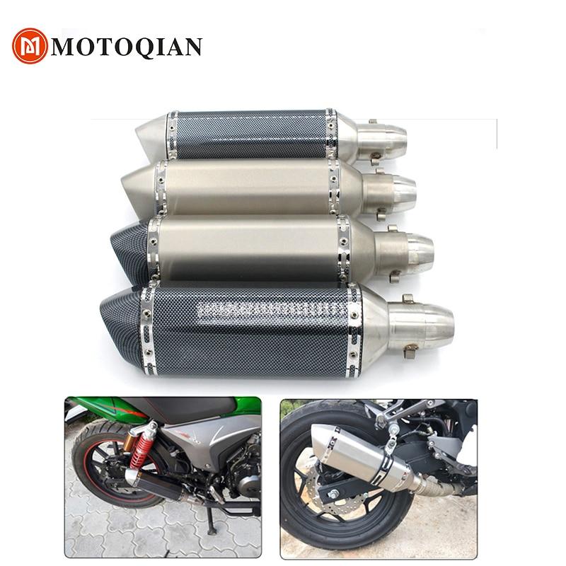 51mm Universal Motorcycle Exhaust For Honda CBR500R CBR 500R 500 R db Killer muffler pipe dbkiller accessories yoshimura moto