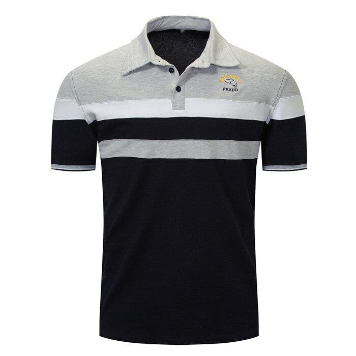 Men Clothes 2019 Polo Summer 100% Cotton Shirt Men Chest Embroidery Casual Polos Homme Short Sleeve Striped Polos Para Hombre
