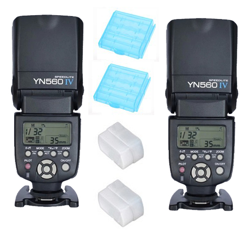 2 PCS YONGNUO YN560 IV III 2.4G Wireless Flash Speedlite for Canon 6D 7D 70D 5D2 5D3 700D 650D YN 560 IV for Nikon D800 D610 D90|yongnuo yn560 iv|yongnuo yn560|speedlite for canon - title=