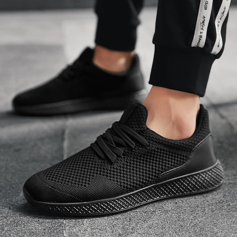 Careful Bomkinta New Breathable Mesh Casual Shoes Men Fly Weave Tenis Sneakers Men Black Shoes Comfortable Fashion Trend Mans Footwear Men's Casual Shoes
