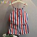 Verano Del Niño de La Muchacha Ropa Niños Traje de los Bebés de La Raya Del Chaleco + Shorts 2 unids Conjunto Boutique Kids Clothes Moda 0-7años BC1331