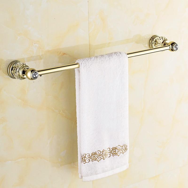 Solid Brass Crystal Bathroom Accessories Set Polish Finish Gold Bathroom Hardware Set Europe Antique Bathroom Products ST1