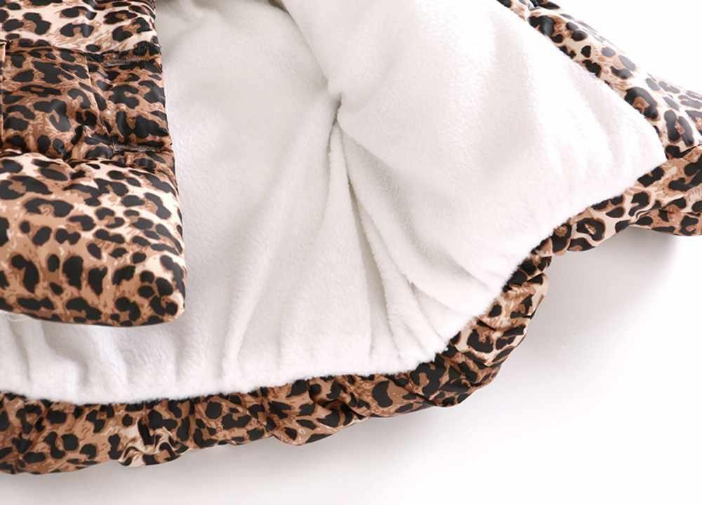 Зимняя теплая куртка с капюшоном и леопардовым принтом для маленьких девочек и мальчиков, ветрозащитное пальто, модная оптовая продажа и Прямая поставка #30