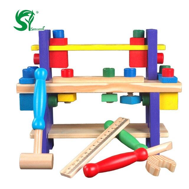 Holz toys für kinder multifunktionale mutter demontage kombination ...