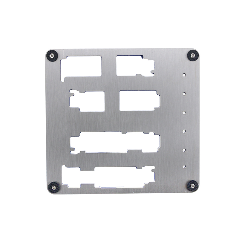 Купить с кэшбэком UANME 8 in 1 Motherboard Fixture IC Chip NAND Flash PCIE A8 A9 A10 A11 CPU Holder for iPhone 8p 7p 6sp 6p 6g BGA Repair Tool