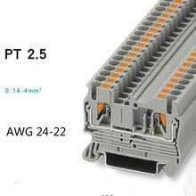 20 шт. Феникс Тип Быстрый расположение проводов разъем PT2.5 din-рейку комбинированный толчок в пружинный Безвинтовой клеммный блок
