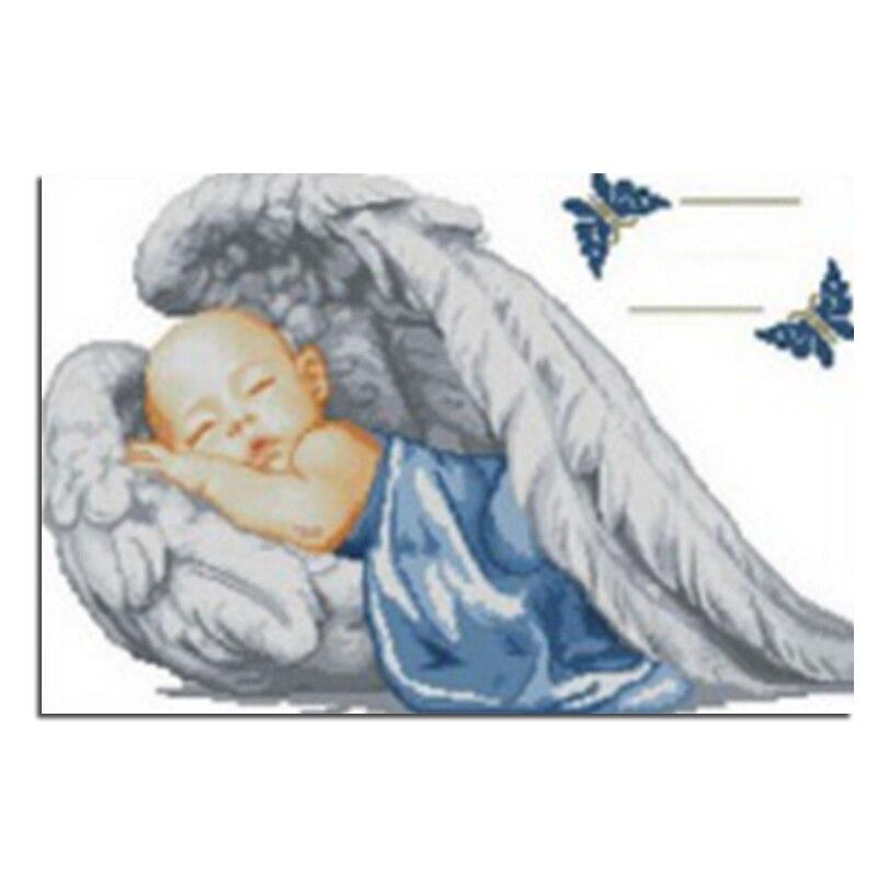 Angel Baby 20x30cm Úplné vrtání diamantové vyšívání 3d - Umění, řemesla a šití