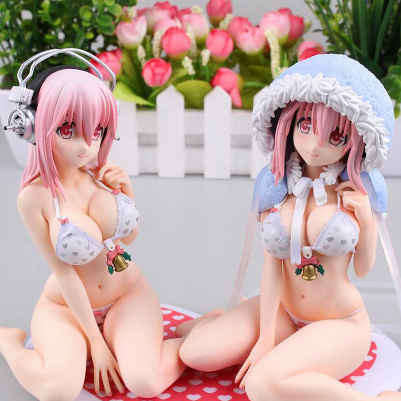 2 style Anime SUPER SONICO THE ANIMATION Sexy Girls Figure 13CM