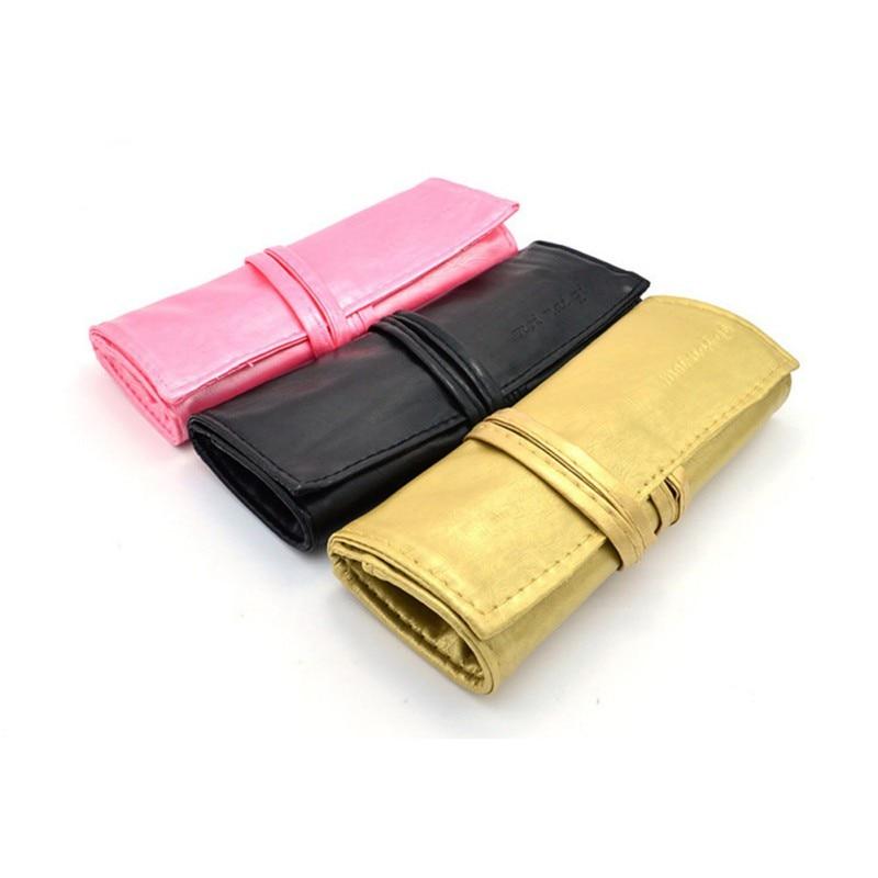 2019 7 Pcs Brushes Set 3 Colors PU Case High Quality 7 Slots Makeup Brush Bag Protect Pouch Wholesale