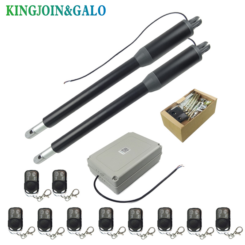 Free Shipping Water-proof Automatic Swing Gate Opener C05 Electric Linear Actuator Double Arms Swing Gate Motor Kit