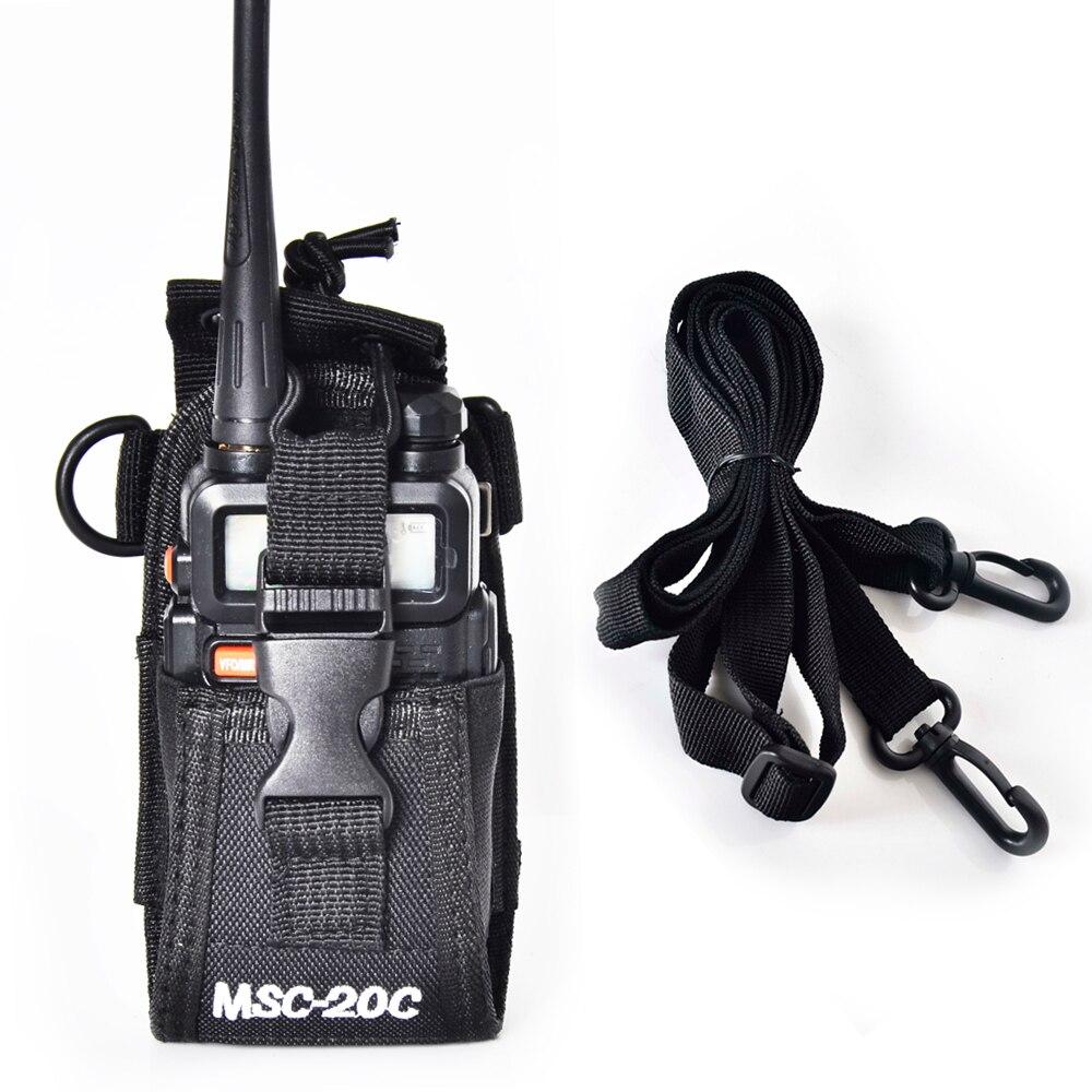 bilder für MSC-20C Holster Pouch Tasche für BAOFENG Yaesu Icom Motorola Wouxun Kenwood Puxing Walkie-talkie Radio
