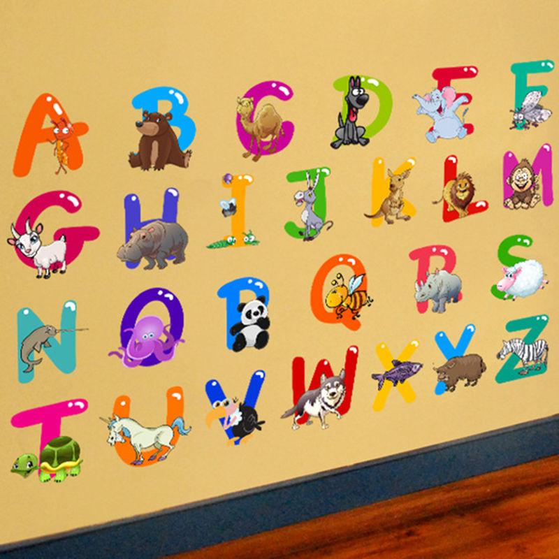 26 English Alphabet Letters 3D DIY Mirror Acrylic Wall Sticker ...