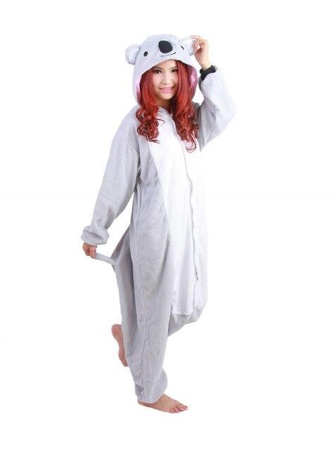 f2f82aaae75 Alle In Een Dier Grijs Grijs Koala Fleece Cosplay Onesie Volwassen  Vrouwelijke Vrouwen Mannen Unisex Pyjama