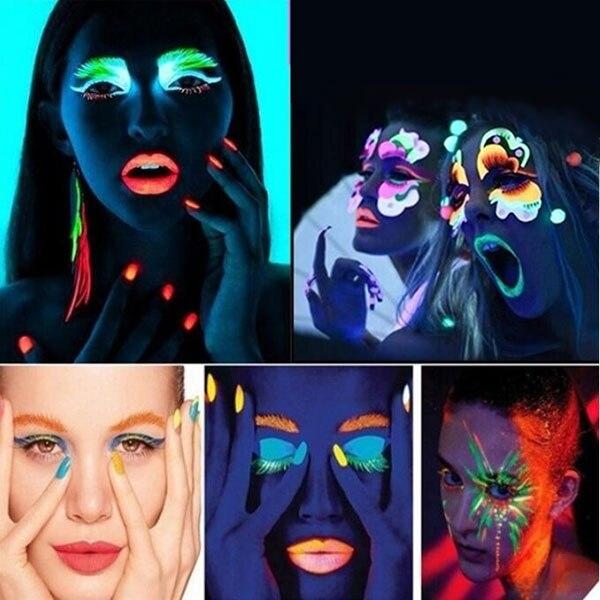 20 ml UV lueur néon visage corps peinture fluorescente lumineux Fluo  irradié luminescent fête Festival décoration fête maquillage HS11