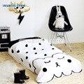 Musselina árvore 130 X 90 cm cobertor do bebê recém-nascido 100% algodão roupa de cama branca dos desenhos animados Kids summer quilt sofá chão jogando tapete esteiras 550 g