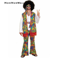 Halloween Costume Vintage 50s Hippie Clothing Night Club Bar Party Stage Hip Hop Singers Performance Clothing