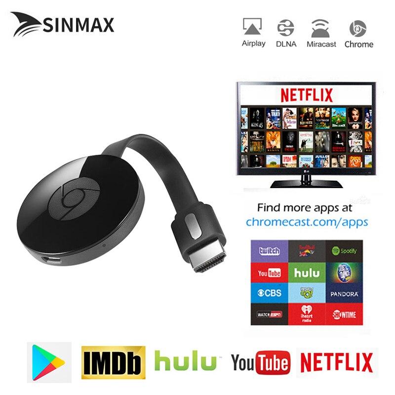 Chromecast TV Stick para Netflix YouTube cromo fundido para Android tv Miracast cromecast HDMI Display Dongle vs Mirascreen anycast