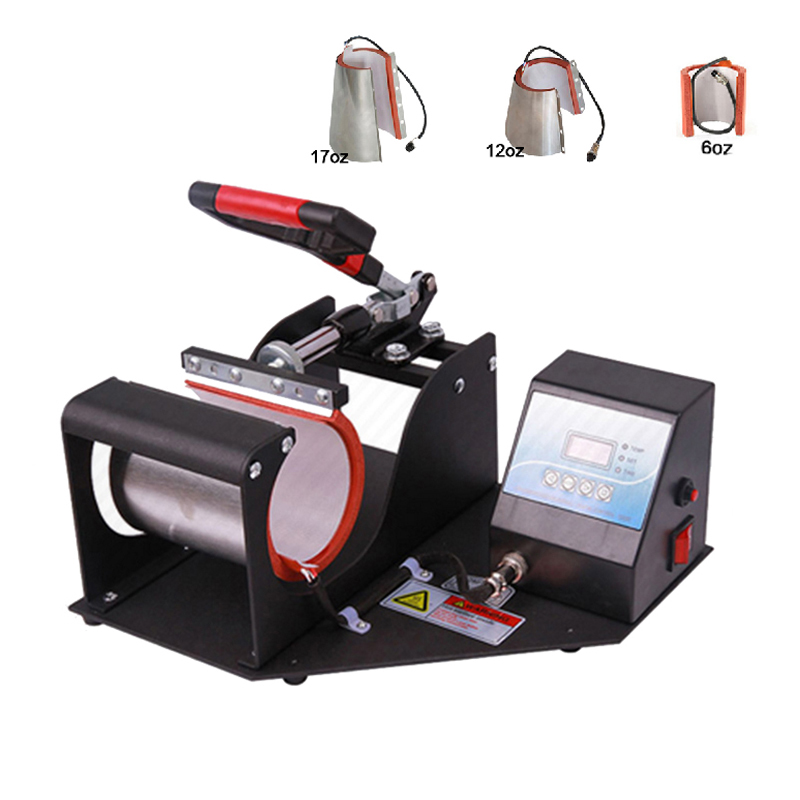 4 in 1 Mug Press Machine Sublimation Printer Heat Press Machine Mug Printing Machine for 6oz/11oz/12oz/17oz Cup st 210 double station mug press machine sublimation heat press machine printer for double 11oz mug cup printing at one time