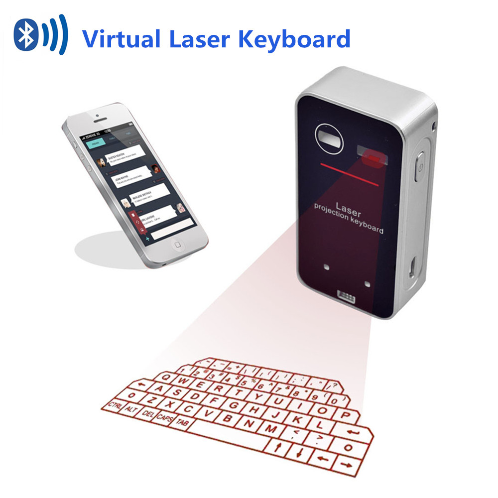 Wireless Bluetooth Virtual Laser Keyboard for Smart Phone Tablet PC Computer Red Lazer Projection Teclado Sem Fio Gaming Klavye white wireless bluetooth laser virtual projection keyboard for iphone ipad tablet laptop android smart phone