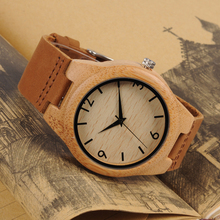 2017 TOP Luxury Brand BOBO BIRD Women Wristwatches Handmade Ladies Wood Watches With Genuine Leather relogio feminino C-A32