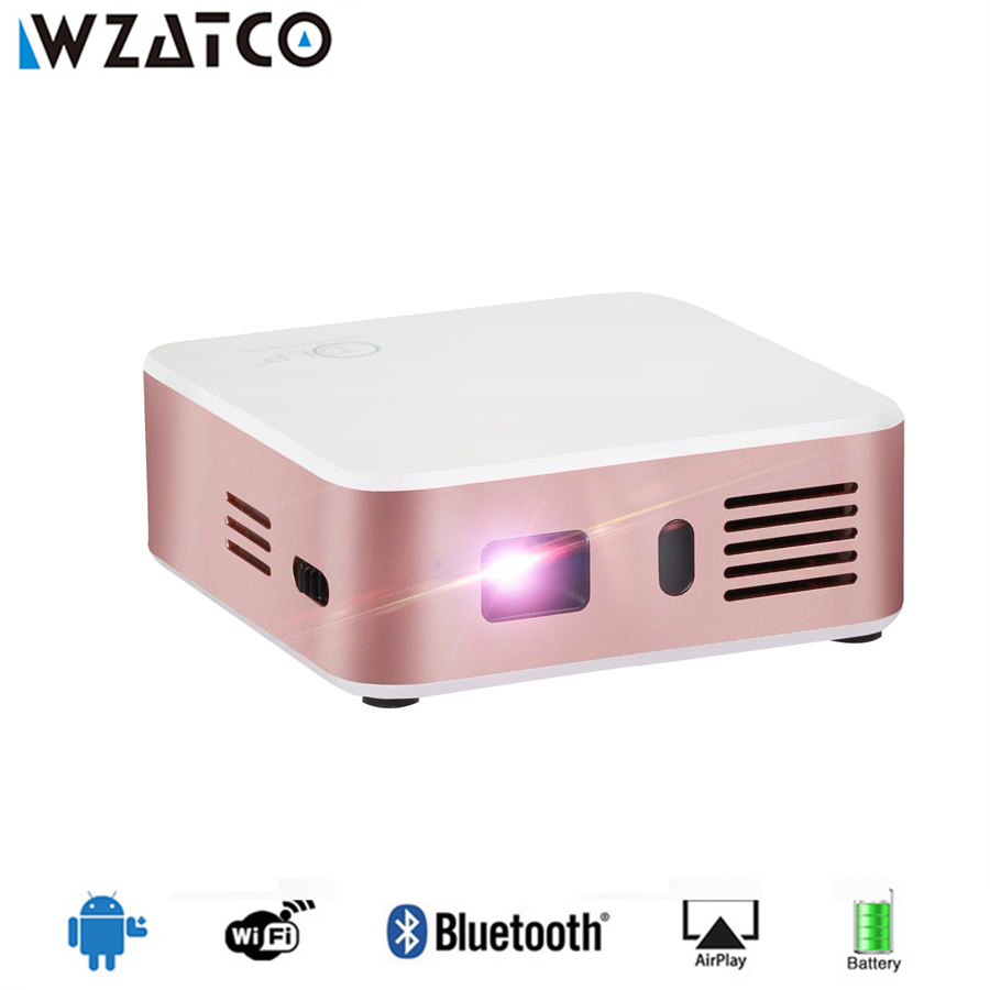 WZATCO CE05 Mini Projector Android 7.1.2 OS Portable Pocket HD Smart Projector Wifi Bluetooth LED 1080P DLP Home Theater Beamer цены