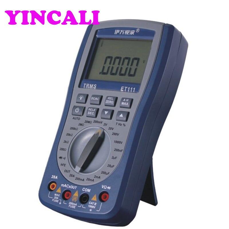 ET111 Цифровой мультиметр хранения TRMS DMM с 20000 графы 4 1/2 цифро аналоговый рубец дисплей напряжение переменного тока пропускной способностью 20
