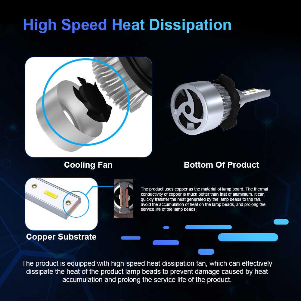 Car Light H4 H7 Led Bulb Headlight H1 9005 9006 hb4 hb3 H11 Led Lamp 72W 12V 6000k CSP Chip Automotivo