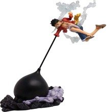 26cm Retail Box Anime One Piece Luffy Combat form PVC Action Figure Collection Model Toy