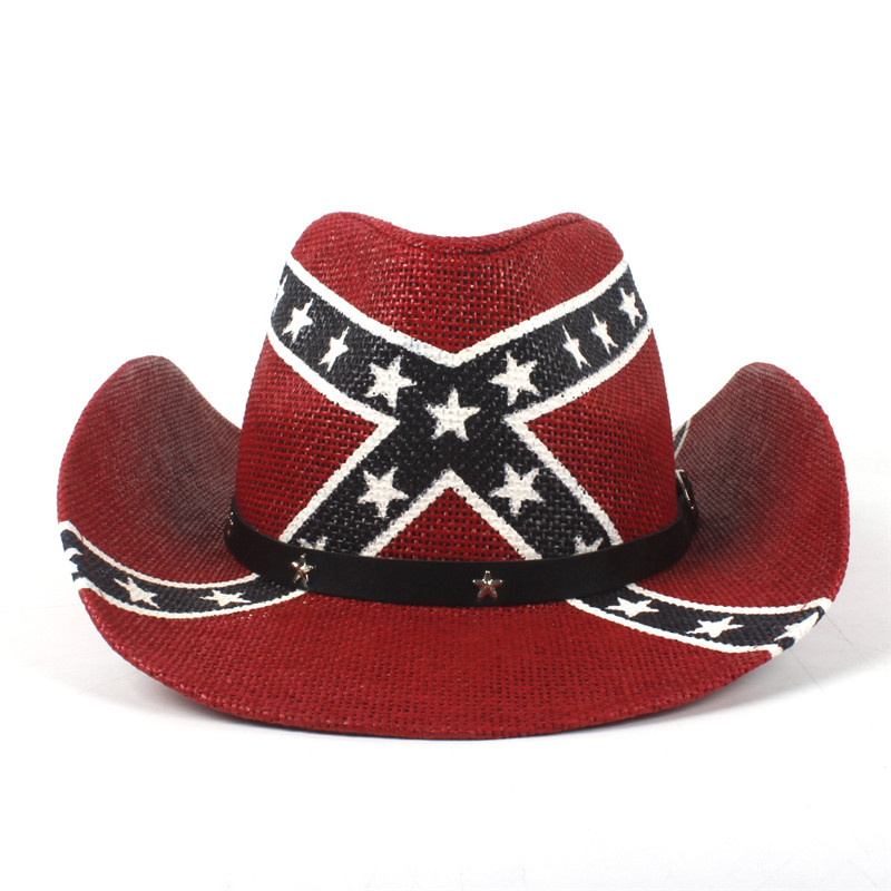 Women Men Straw Cowboy Hat USA American Flag For Ldy Gentleman Western  Sombrero Hombre Cowgirl Caps Dropshipping-in Cowboy Hats from Apparel  Accessories on ... 2dc62bf6ae9f