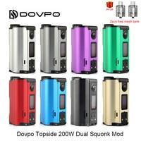 Оригинальный 200 W DOVPO топсайдеры двойной заполняется доверху TC боттомфидер-мод с 10 мл блок впрыскивания электронная сигарета Vape Mod VS перетащи...